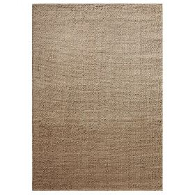 tapis down to earth moderne robust beige sable
