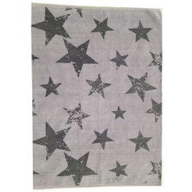 tapis enfant réversible vintage star gris lorena canals