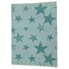 tapis enfant réversible vintage star vert lorena canals