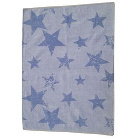 tapis enfant réversible vintage star bleu lorena canals