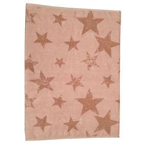 tapis enfant réversible vintage star orange lorena canals