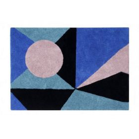 tapis lavable geometric frame 140x200 - lorena canals