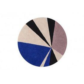 tapis lavable geometric klein 160x160 - lorena canals