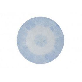 tapis lavable tie-dye soft blue 150x150 - lorena canals