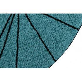tapis lavable trace petroleum 160x160 - lorena canals