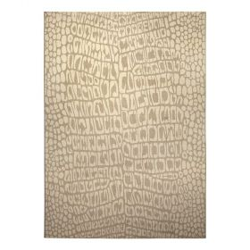 tapis moderne croco beige wecon