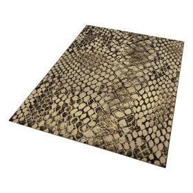 tapis moderne or et marron snake wecon