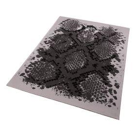 tapis moderne gris python wecon