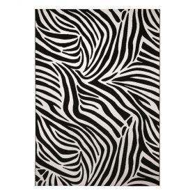 tapis moderne noir et blanc zebra wecon