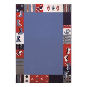 tapis bleu garçon roundly hands and feet wecon