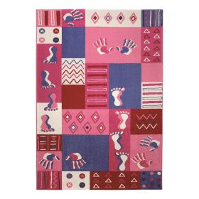 tapis rose fille hands and feet wecon