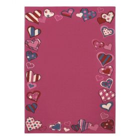 tapis enfant rose just hearts wecon