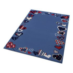 tapis enfant bleu just hearts wecon