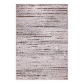 tapis moderne marron et rouge wecon woodland
