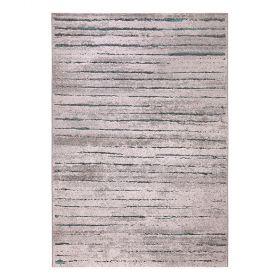 tapis moderne marron et bleu wecon woodland