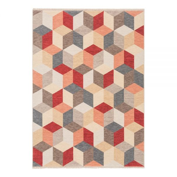 tapis moderne ligne pure laine multicolore colors