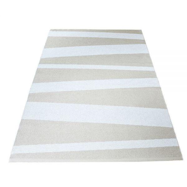 tapis de couloir are rayé blanc et beige sofie sjostrom design blanc et beige