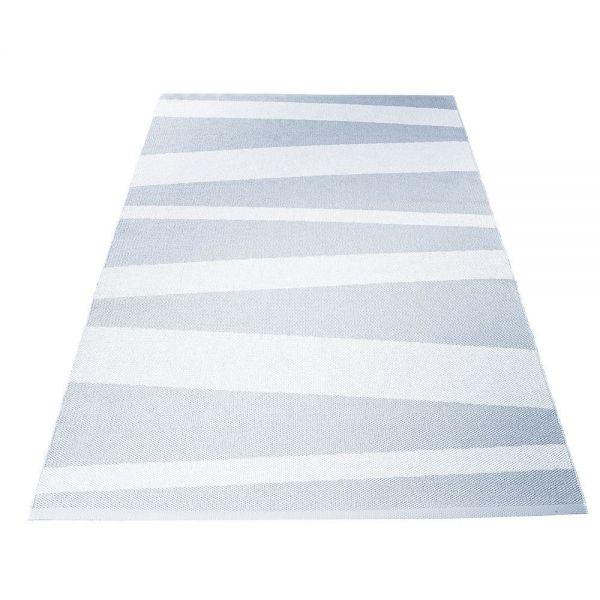 tapis de couloir gris et blanc are rayésofie sjostrom design