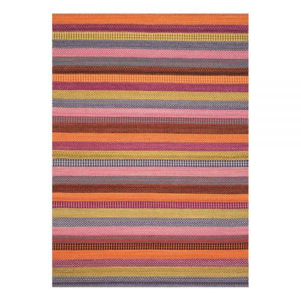 tapis moderne flatweave rouge - ligne pure