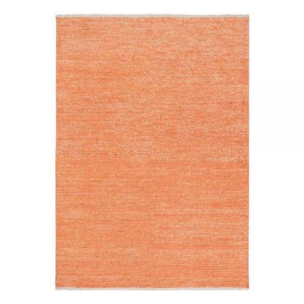 tapis moderne ligne pure viscose orange uni