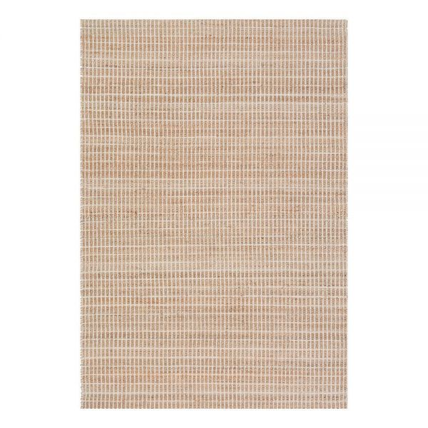 tapis moderne beige coton uni flatweave ligne pure