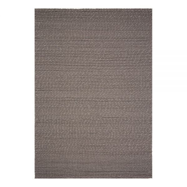 tapis moderne ligne pure laine marron dream