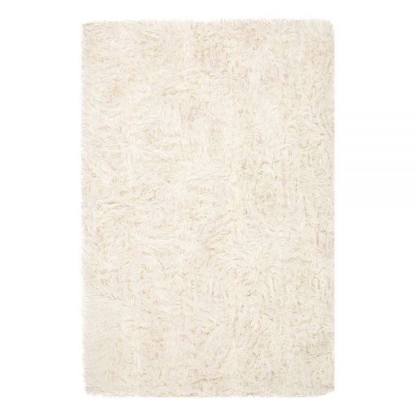 tapis shaggy uni blanc pelle ligne pure 64 x 120. Black Bedroom Furniture Sets. Home Design Ideas