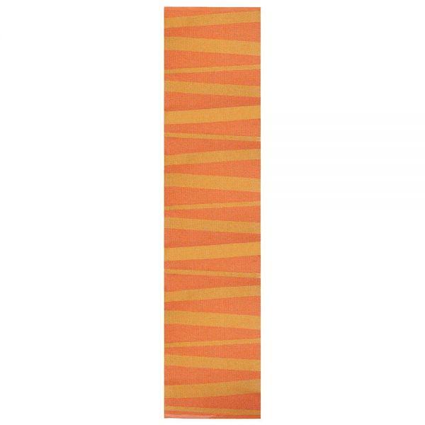 tapis de couloir zébré orange are sofie sjostrom design