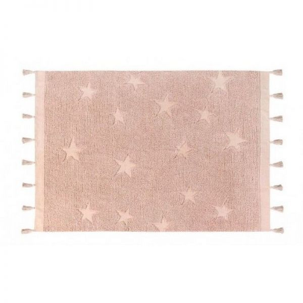 tapis lavable stars vintage nude 120x175 - lorena canals