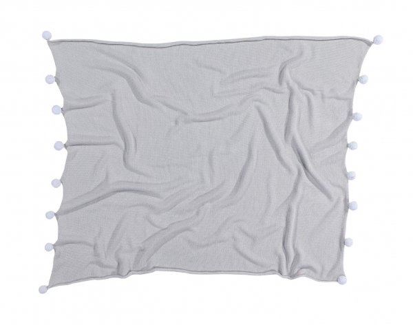 couverture bébé bubbly soft light grey - lorena canals