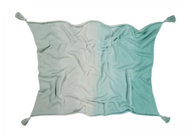 couverture bébé ombré mint - lorena canals