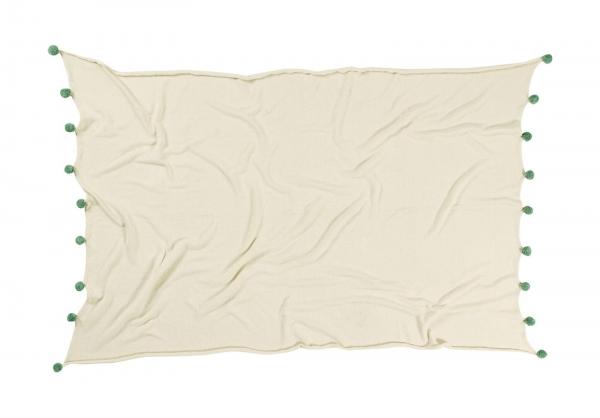 couverture bébé natural green - lorena canals