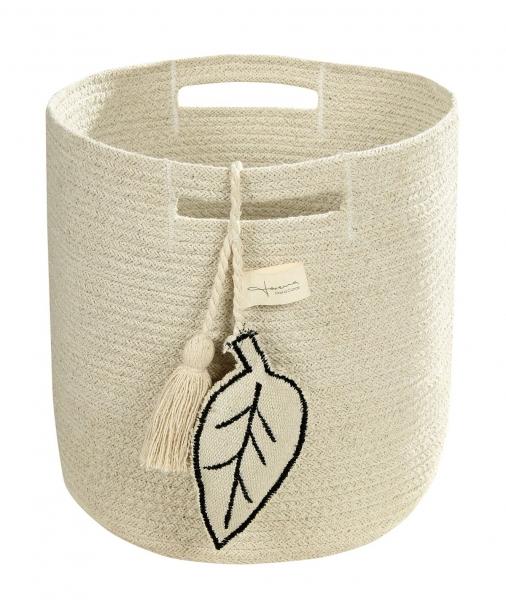 panier en coton leaf natural - lorena canals
