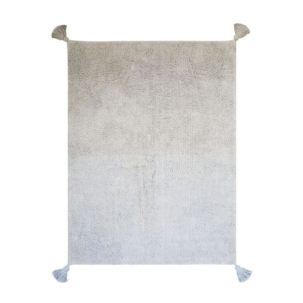 tapis enfant degrade gris bleu lorenal canals