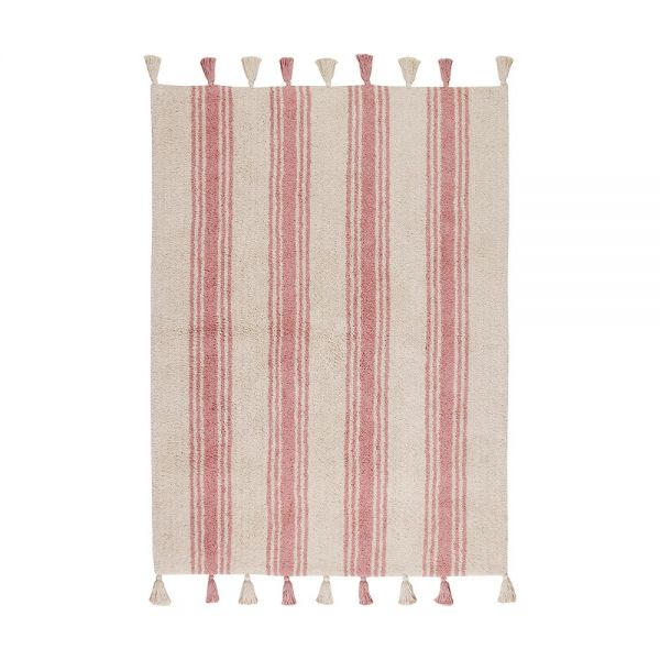 tapis enfant stripes rose lorenal canals