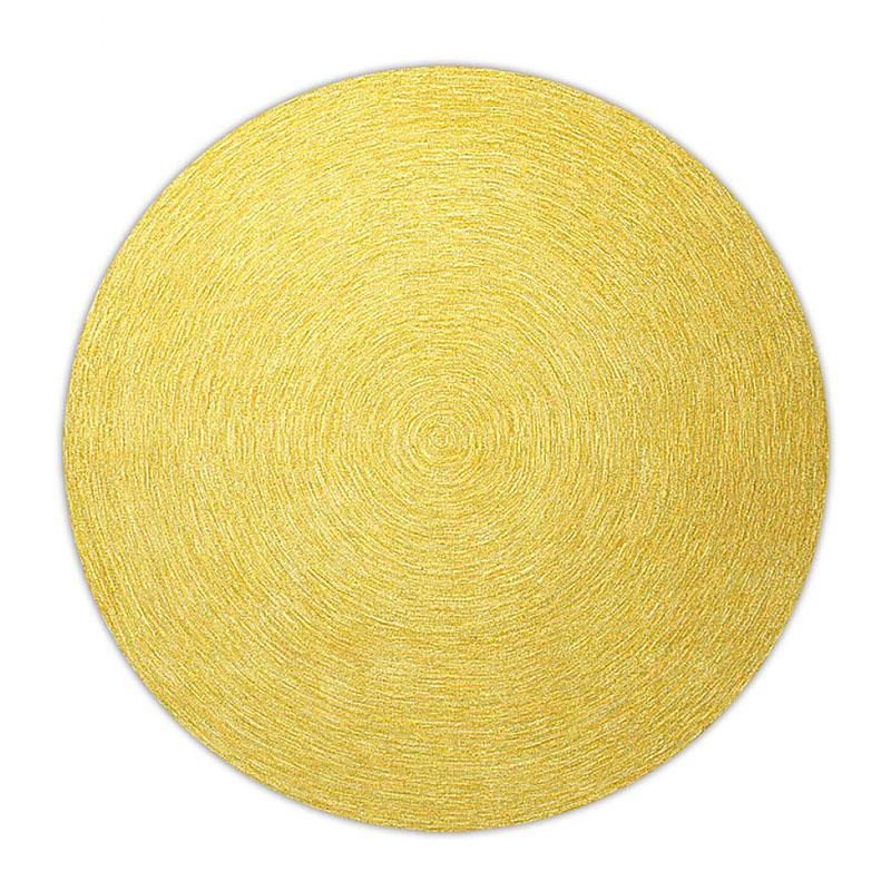 tapis rond moderne jaune esprit home colour in motion 200x200. Black Bedroom Furniture Sets. Home Design Ideas