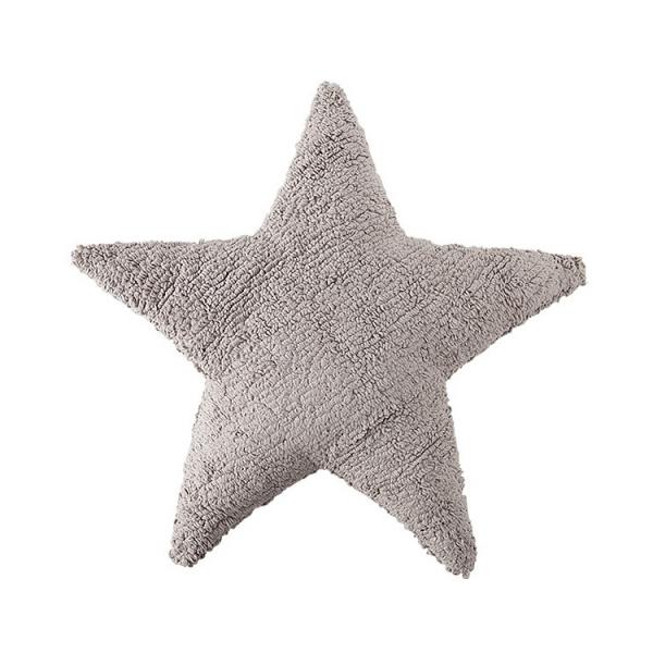 coussin enfant stars gris clair lorena canals