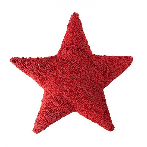 coussin enfant stars rouge lorena canals