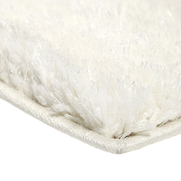 tapis shaggy spa blanc esprit