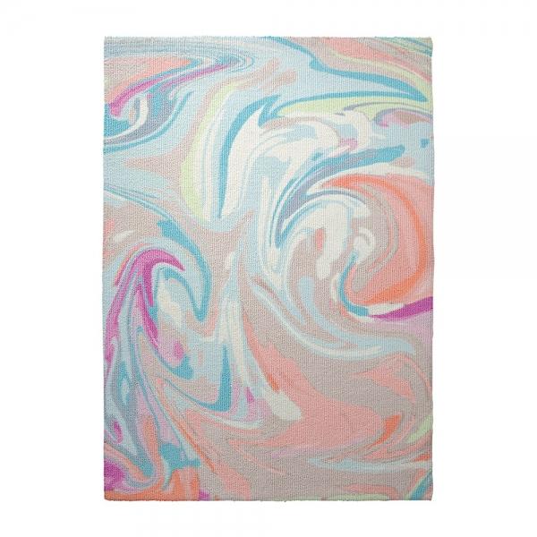 tapis moderne swirl multicolore esprit home