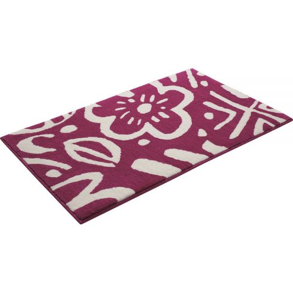 tapis de bain rose esprit cool flower