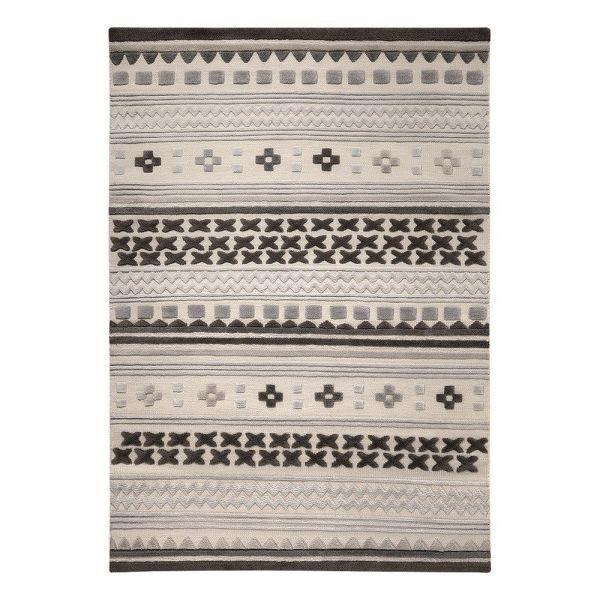 tapis moderne ethnic chic gris