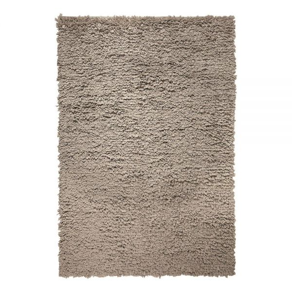 tapis marron esprit home moderne fluffy