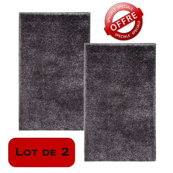 lot de 2 tapis de bain chill! gris esprit home