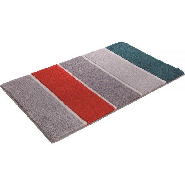 tapis de bain block stripe orange esprit