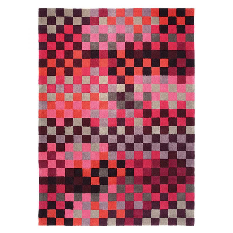 tapis moderne pixel rose esprit home