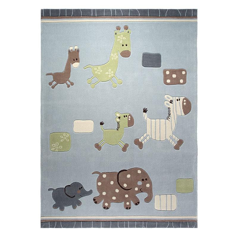 tapis enfant gris lucky zoo esprit home