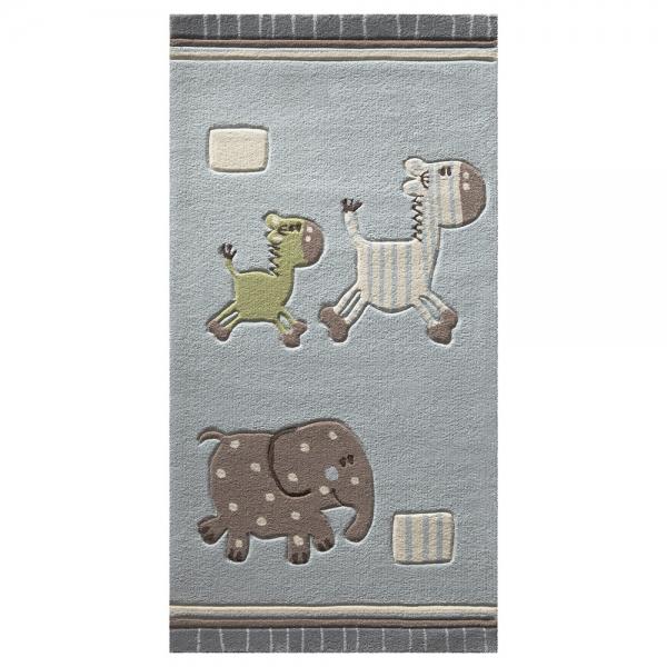 tapis enfant lucky zoo gris esprit home