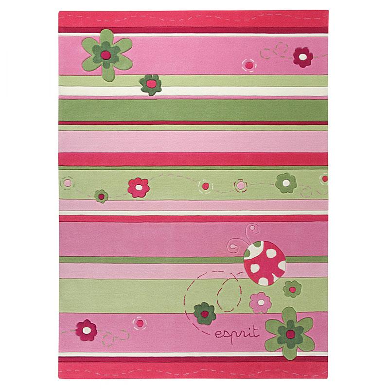 tapis enfant rose esprit home ladybird