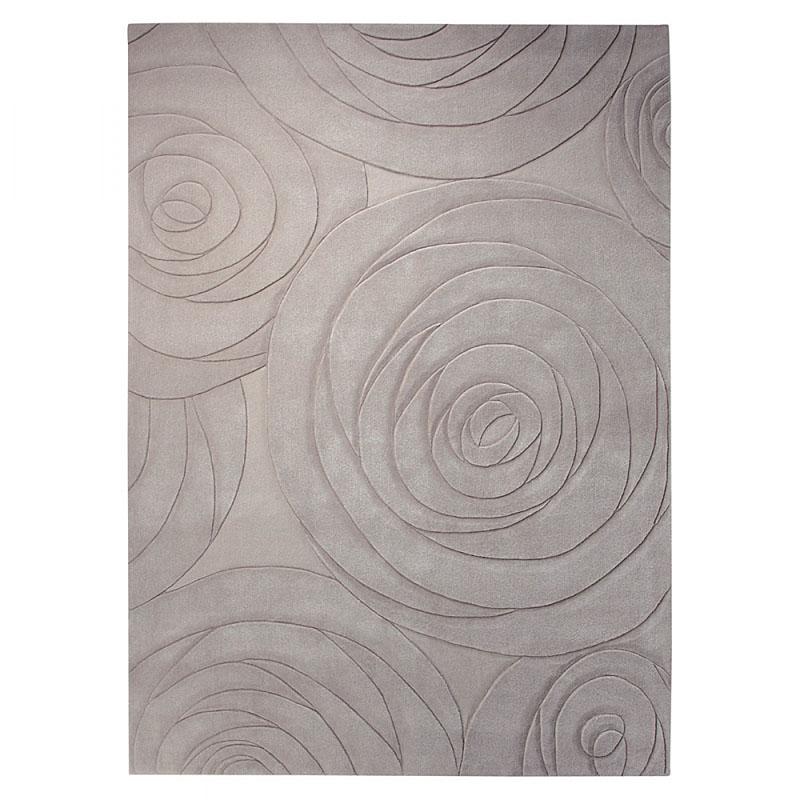 tapis moderne carving art beige esprit home